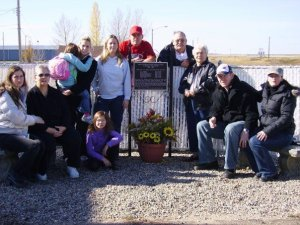 McDonald Family Photo at the site of Wiseton, Saskatchewan store my Grandpa and Grandma ran from 1942-1980.